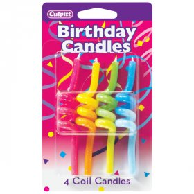 Crazy Primary Coil Shaped Candles
