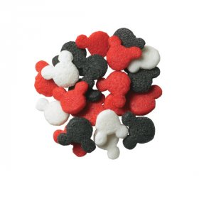 Mickey Mouse Red, Black and White Quins