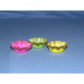 "1000pc 5/8""X1 1/8"" Danish Cup  Assorted Colors Glassine Candy Cups"