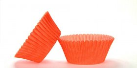 500pc Mini  Greaseproof Baking Cup Orange Design