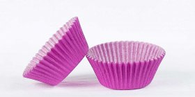500pc Mini  Greaseproof Baking Cup Purple Design