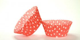 500pc Mini  Greaseproof Baking Cup  Red Polka Dot Design