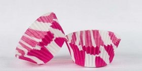 500pc Mini  Greaseproof Baking Cup Vhot Pink Zebra Design