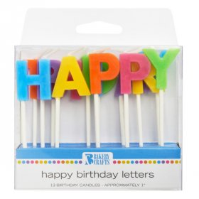 Happy Birthday Letter Speciality Candles