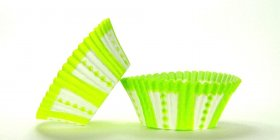 50pc Lime Carnival Design Standard Size Cupcake Baking Cups Liners Wrappers