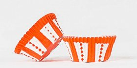 50pc Carnival Orange Design Standard Size Cupcake Baking Cups Liners Wrappers