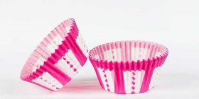 500pc Pink Carnival Design Standard Size Cupcake Baking Cups Liners Wrappers