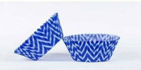 500pc Chevron Design - Blue/Light Blue Standard Size Cupcake Baking Cups Liners Wrappers
