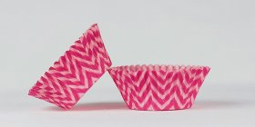 500pc Chevron Design - Hot Pink / Pink Standard Size Cupcake Baking Cups Liners Wrappers