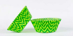 50pc Chevron Design - Lime/Green Standard Size Cupcake Baking Cups Liners Wrappers