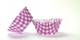 500pc Gingham Design Purple Standard Size Cupcake Baking Cups Liners Wrappers