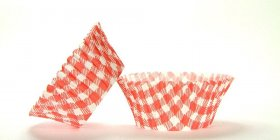50pc Gingham Design Red Standard Size Cupcake Baking Cups Liners Wrappers