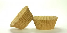 50pc Solid Gold Color Standard Size Cupcake Baking Cups Liners Wrappers