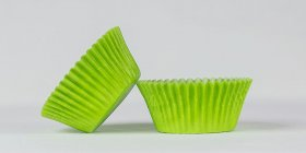 50pc Solid Lime Green Color Standard Size Cupcake Baking Cups Liners Wrappers