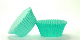 50pc Solid Teal Color Standard Size Cupcake Baking Cups Liners Wrappers