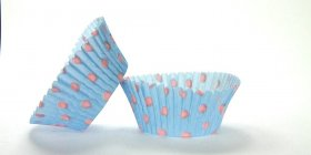 500pc Hot Dot Design Light Blue With Light Pink Dots Standard Size Cupcake Baking Cups Liners Wrappe