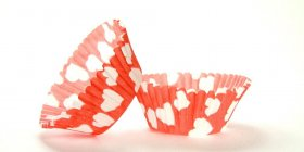 500pc Heart Design Red Standard Size Cupcake Baking Cups Liners Wrappers