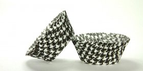 500pc Black Houndstooth Design Standard Size Cupcake Baking Cups Liners Wrappers