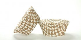 500pc Brown Houndstooth Design Standard Size Cupcake Baking Cups Liners Wrappers