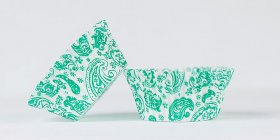 50pc Paisley Design Green Standard Size Cupcake Baking Cups Liners Wrappers