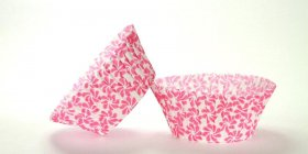 50pc Pinwheel Pink Design Standard Size Cupcake Baking Cups Liners Wrappers