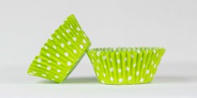 500pc Lime Green Polka Dot Design Standard Size Cupcake Baking Cups Liners Wrappers