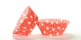 500pc Red Star Design Standard Size Cupcake Baking Cups Liners Wrappers