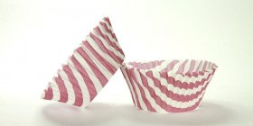 50pc Stripe Design Burgundy Standard Size Cupcake Baking Cups Liners Wrappers