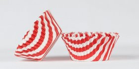 50pc Stripe Design Red Standard Size Cupcake Baking Cups Liners Wrappers