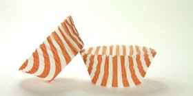 50pc Stripe Design Rust Standard Size Cupcake Baking Cups Liners Wrappers