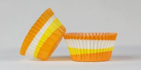50pc 2 Color Swirl Design Orange Standard Size Cupcake Baking Cups Liners Wrappers
