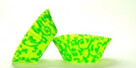 500pc Vine Design - Green / Lime Green Standard Size Cupcake Baking Cups Liners Wrappers