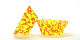500pc Vine Design - Orange / Yellow Standard Size Cupcake Baking Cups Liners Wrappers