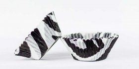 50pc Zebra Design Black Standard Size Cupcake Baking Cups Liners Wrappers