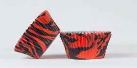 50pc Black And Red Zebra Design Standard Size Cupcake Baking Cups Liners Wrappers