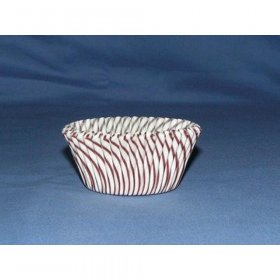 500pc Tart Size Greaseproof Baking Cup Pisa Design Brown