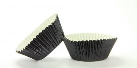 500pc Mini Size  Black Foil Baking Cup With Greasepoof Liner