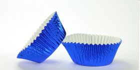 500pc Mini Size  Blue Foil Baking Cup With Greasepoof Liner