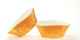 500pc Mini Size  Brass Foil Baking Cup With Greasepoof Liner