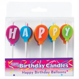 Happy Birthday Balloons Speciality Candles