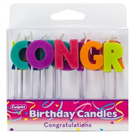 Congratulations Bright Letter Speciality Candles
