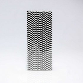 Paper Straw 25 pc - Chevron - Black
