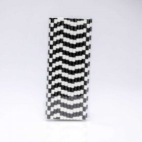 Paper Straw 25 pc - Salor Stripes - Black