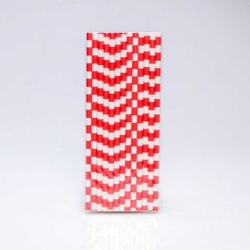 Paper Straw 25 pc - Salor Stripes - Red