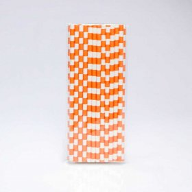 Paper Straw 25 pc - Salor Stripes - Orange