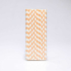 Paper Straw 25 pc - Salor Stripes - Tan