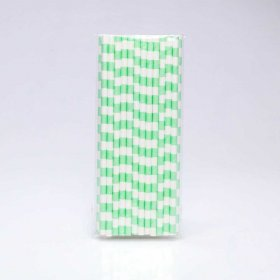 Paper Straw 25 pc - Salor Stripes - Mint Green