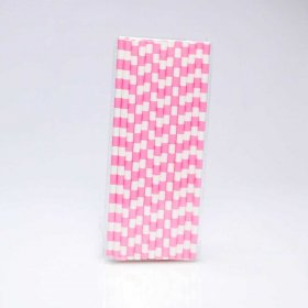 Paper Straw 25 pc - Salor Stripes - Pink