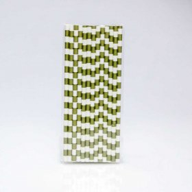 Paper Straw 25 pc - Salor Stripes - Gold