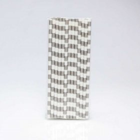 Paper Straw 25 pc - Salor Stripes - Grey